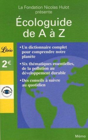Écologuide de A à Z - librio - 9782290355732 -