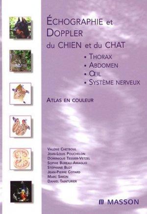 Échographie et Doppler du chien et du chat - elsevier / masson - 9782294021503 -