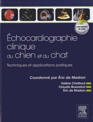 Échocardiographie clinique du chien et du chat - elsevier / masson - 9782294709845 -