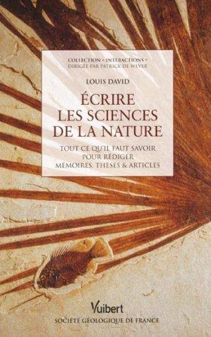 Écrire les sciences de la nature - vuibert - 9782311005035 -