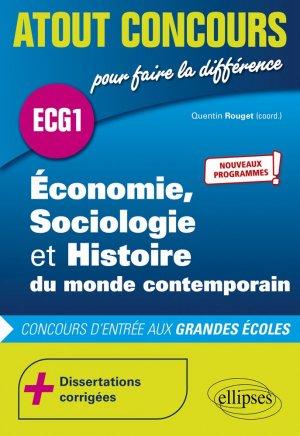 Économie, Sociologie et Histoire du monde contemporain - ECG1 - Ellipses - 9782340047884 -