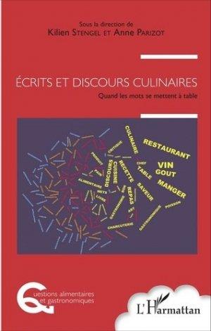 Écrits et discours culinaires - l'harmattan - 9782343097183 -