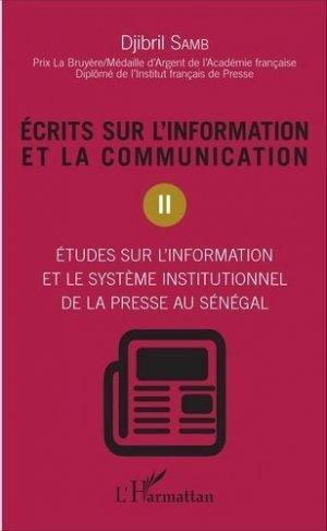 Ecrits sur l'information et la communication - l'harmattan - 9782343100975 -