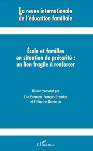 Ecoles et familles en situation de précarité : un lien fragile à renforcer - l'harmattan - 9782343172439 -