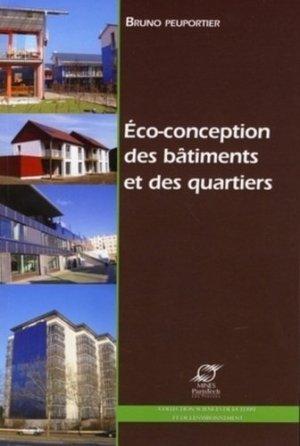 Eco-conception des bâtiments et des quartiers - presses des mines - 9782356710109 -