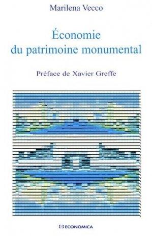 Economie du patrimoine monumental - Economica - 9782717853087 -