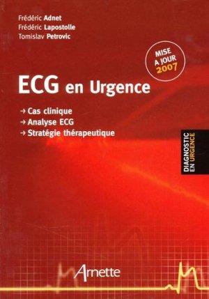 ECG en urgence - arnette - 9782718411682 -