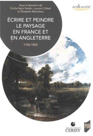 Écrire et peindre le paysage en France et en Angleterre - presses universitaires de rennes - 9782753580367 -