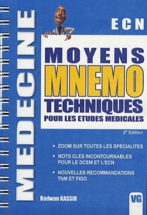 ECN Moyens mnémotechniques pour les études médicales - vernazobres grego - 9782818303504 -