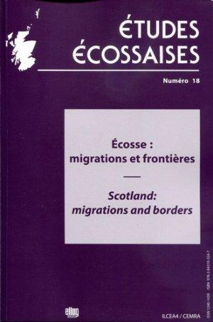 Ecosse : migrations et frontières - Editions littéraires et linguistique de l'université de Grenoble - 9782843103247 -