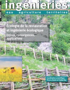 Écologie de la restauration et ingénierie écologique - cemagref - 9782853626781 -