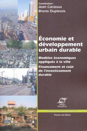 Économie et développement urbain durable - presses des mines - 9782911256134 -