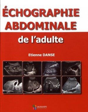 Echographie abdominale de l'adulte - sauramps medical - 9791030301298 -