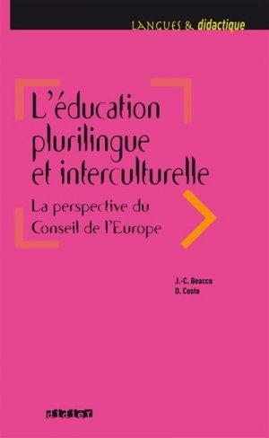L'éducation plurilingue et interculturelle - didier - 9782278086689 -