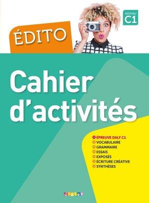 Edito Cahier d'Activités Niveau C1 - didier - 9782278090976 -