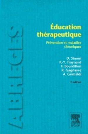 Éducation thérapeutique - elsevier / masson - 9782294726989 -