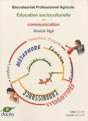 Éducation socioculturelle et communication Module MG4 Baccalauréat professionnel agricole - doceo - 9782909662824 -