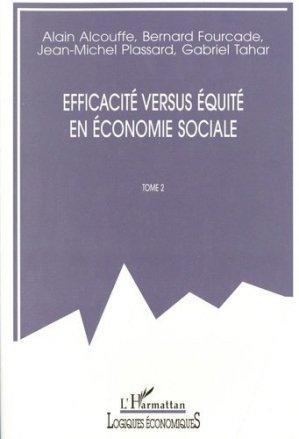 Efficacité versus équité en économie sociale - l'harmattan - 9782738496188 -