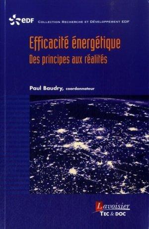 Efficacité énergétique - lavoisier / tec et doc - 9782743020149 -