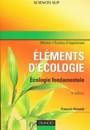 Éléments d'écologie - dunod - 9782100530083 -