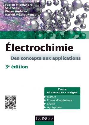 Électrochimie - dunod - 9782100712342 -