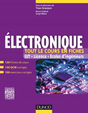 Electronique - Tout le cours en fiches - dunod - 9782100722228 -