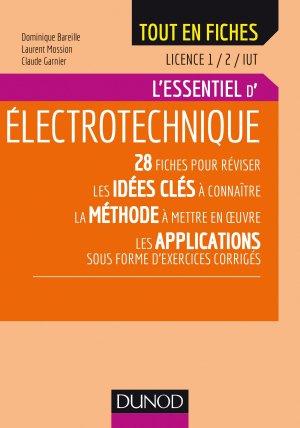 Électrotechnique - Licence 1 et 2 - IUT - dunod - 9782100784585 -