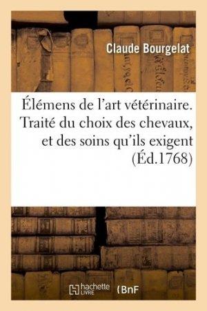 Éléments de l'art vétérinaire - hachette/bnf - 9782329410913 -