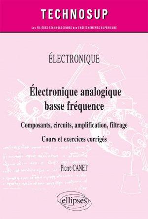 Électronique analogique basse fréquence - ellipses - 9782340023376 -