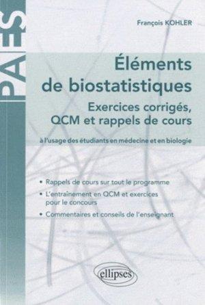 Éléments de biostatistiques - ellipses - 9782729856830 -