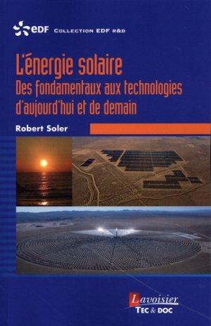 L'énergie solaire - lavoisier / tec et doc - 9782743023959 -