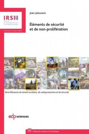 Eléments de sécurité et de non-prolifération - EDP Sciences - 9782759816767 -