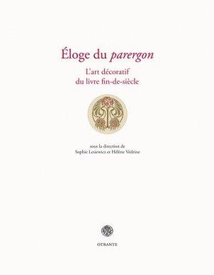 Éloge du parergon - editions otrante - 9791097279165 -
