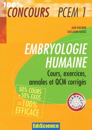Embryologie humaine - ediscience - 9782100512225 -