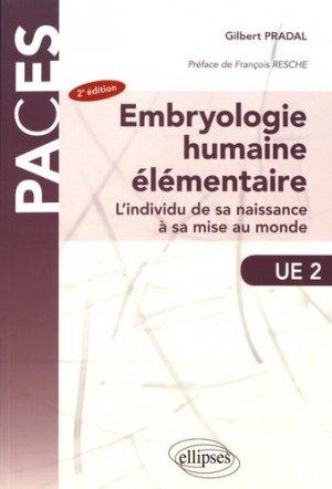 Embryologie humaine élémentaire - ellipses - 9782340018983 -