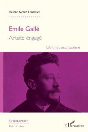 Emile Gallé - l'harmattan - 9782343115993 -