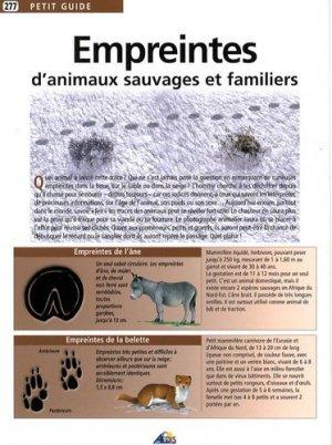 Empreintes d'animaux sauvages et familiers - Aedis - 9782842594091 -
