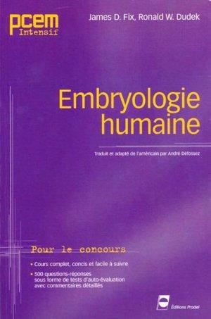 Embryologie humaine - pradel - 9782913996366 -