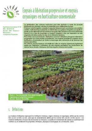 Engrais à libération progressive et engrais organiques en horticulture ornementale - astredhor - 2225755597416 -