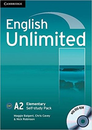 English Unlimited, Elementary - Self-study Pack (Workbook with DVD-ROM) - cambridge - 9780521697743 -