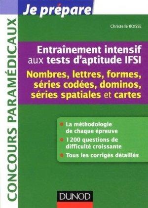 Entraînement intensif aux tests d'aptitude IFSI - dunod - 9782100589128 -