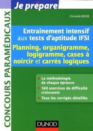 Entraînement intensif aux tests d'aptitude IFSI - dunod - 9782100589777 -