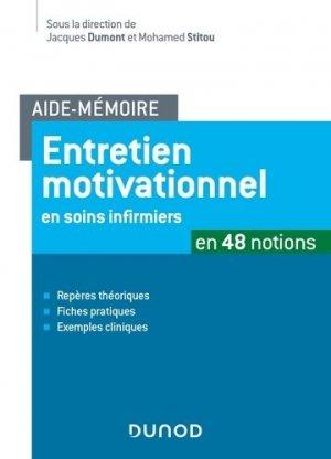 Entretien motivationnel en soins infirmiers - dunod - 9782100783281 -