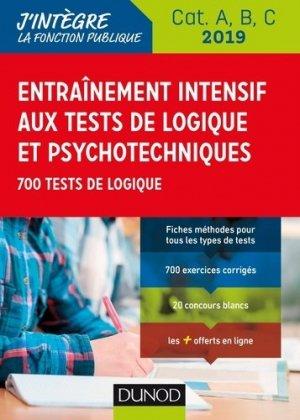 Entraînement intensif aux tests de logique et psychotechniques 2019 - dunod - 9782100789238 -