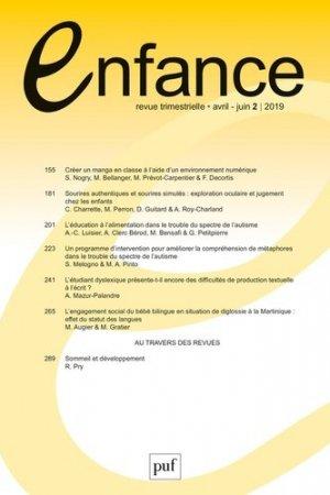 Enfance Volume 71 N° 2 - puf - 9782130821267 -