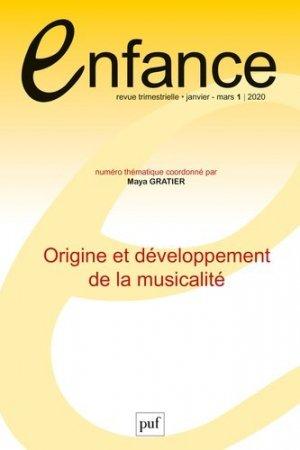 Enfance Volume 72, N° 1/2020 - puf - 9782130823155 -