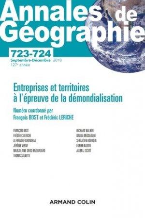 Entreprises et territoires à l'épreuve de la démondialisation - Armand Colin - 9782200931544 -