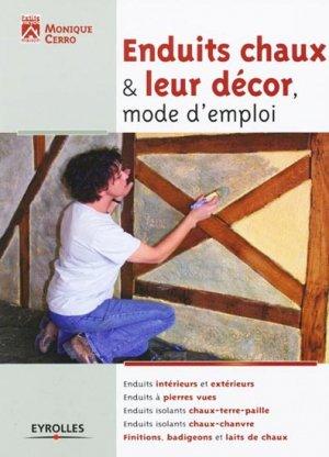 Enduits chaux & leur décor, mode d'emploi - eyrolles - 9782212128123 -