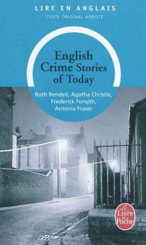 ENGLISH CRIME STORIES OF TODAY - le livre de poche - 9782253057321 -