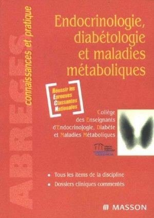 Endocrinologie, diabétologie et maladies métaboliques - elsevier / masson - 9782294084973 -